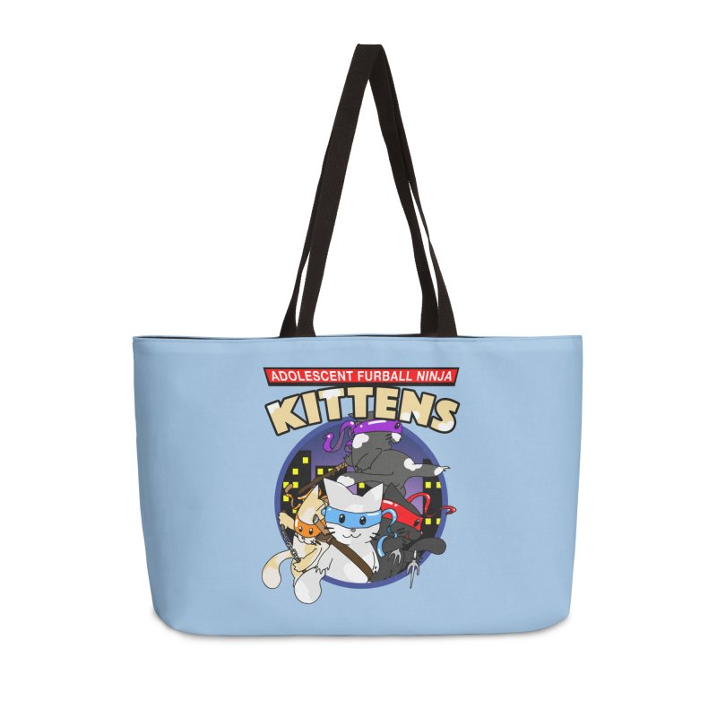 Adolescent Furball Ninja Kittens Accessories Weekender Bag Bag by Norman Wilkerson Designs