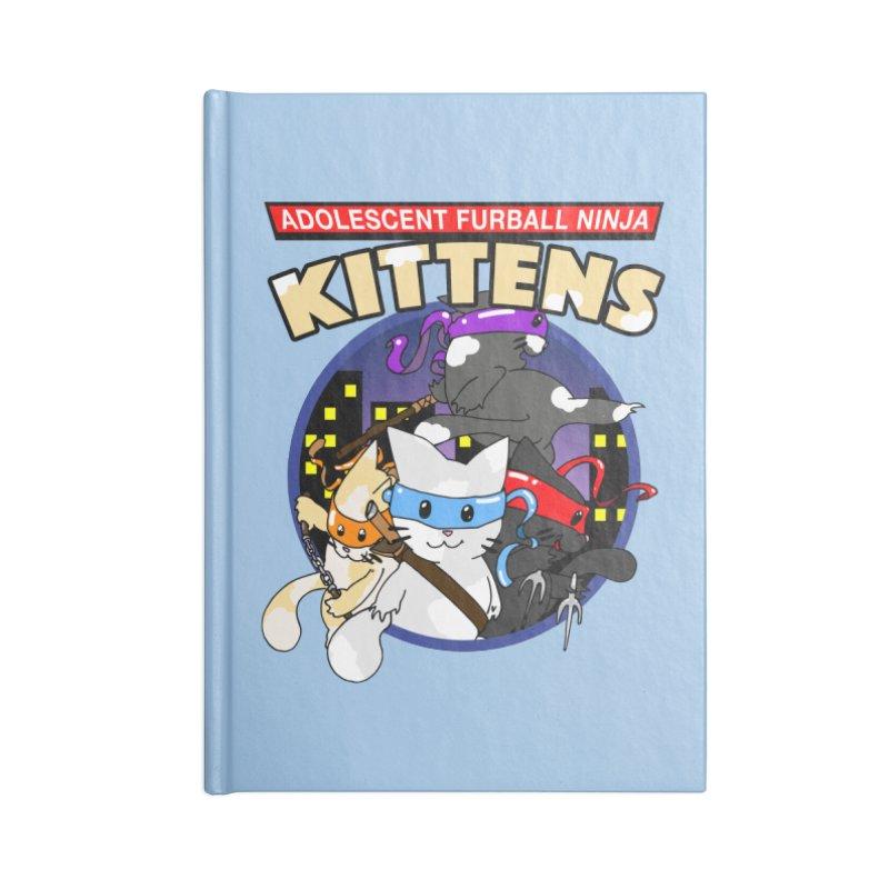 Adolescent Furball Ninja Kittens Accessories Blank Journal Notebook by Norman Wilkerson Designs