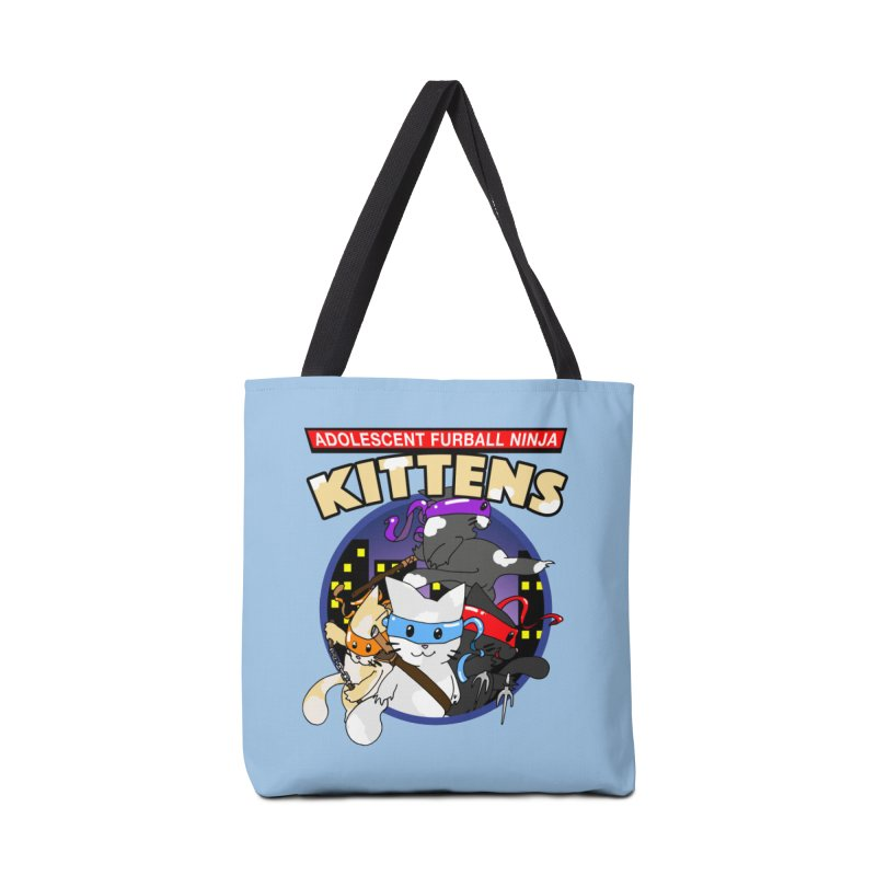 Adolescent Furball Ninja Kittens Accessories Tote Bag Bag by Norman Wilkerson Designs