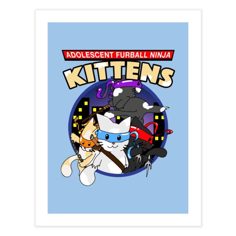 Adolescent Furball Ninja Kittens Home Fine Art Print by Norman Wilkerson Designs