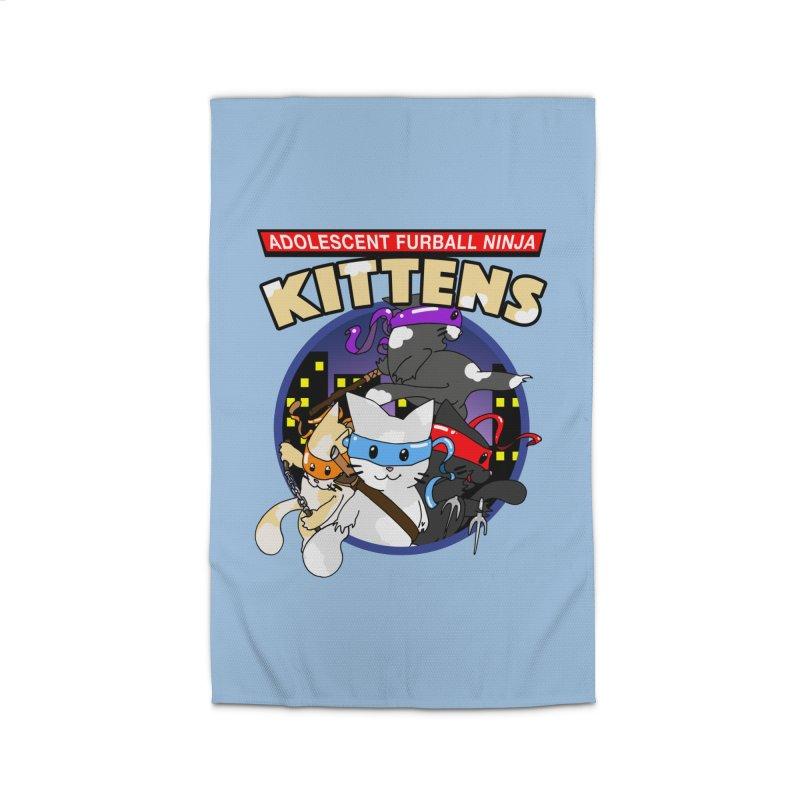 Adolescent Furball Ninja Kittens Home Rug by Norman Wilkerson Designs