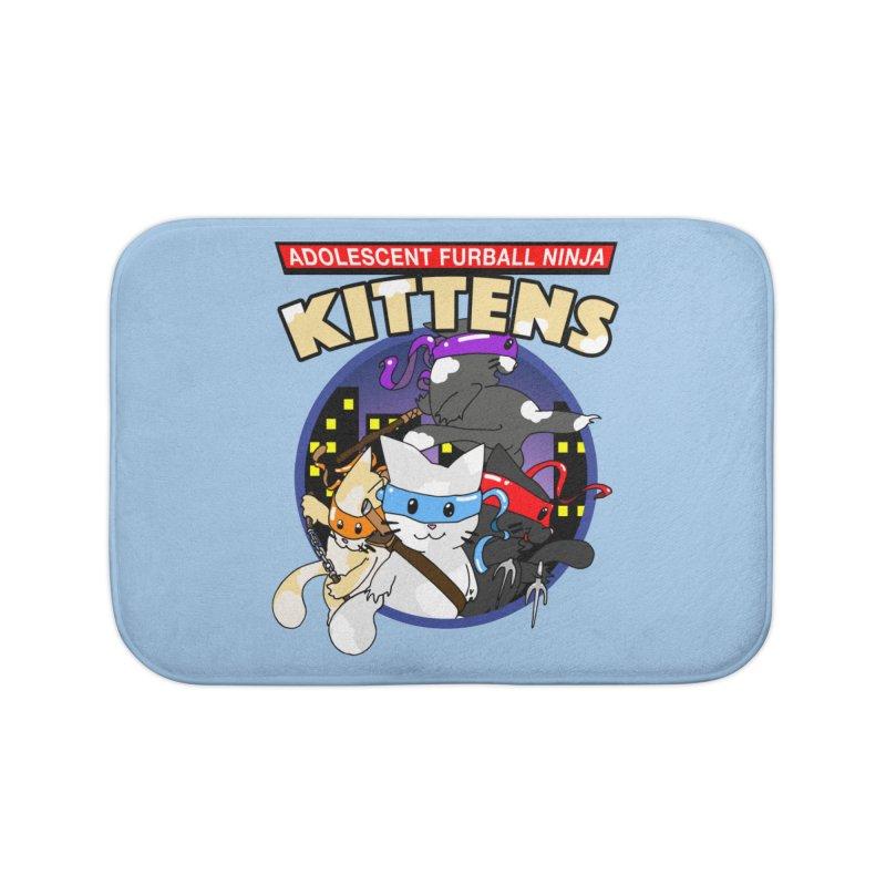 Adolescent Furball Ninja Kittens Home Bath Mat by Norman Wilkerson Designs