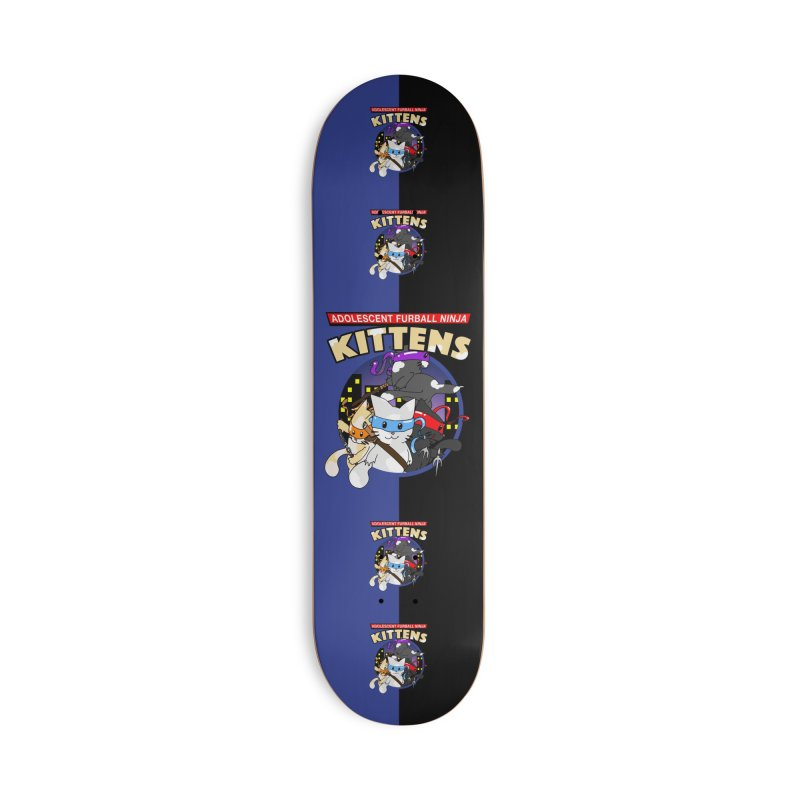 Adolescent Furball Ninja Kittens Accessories Deck Only Skateboard by Norman Wilkerson Designs