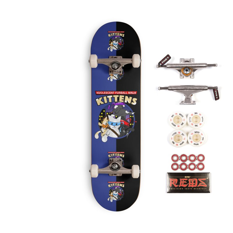 Adolescent Furball Ninja Kittens Accessories Complete - Pro Skateboard by Norman Wilkerson Designs