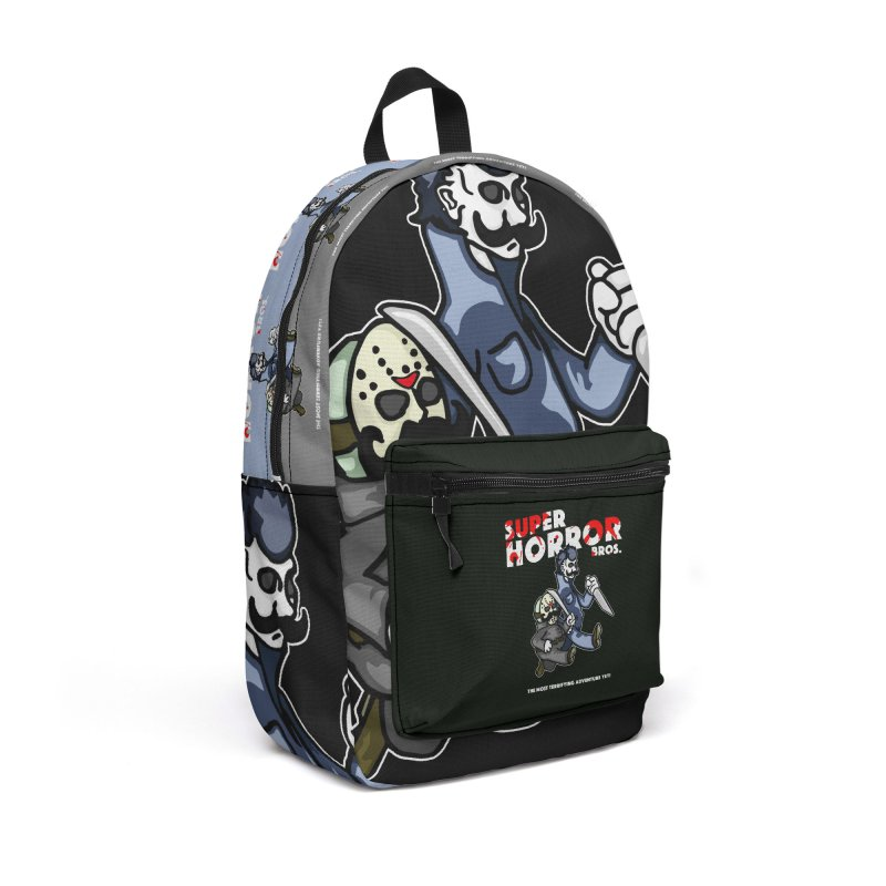 Super Horror Bros Accessories Backpack Bag by Norman Wilkerson Designs