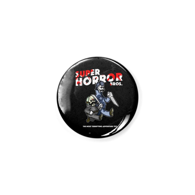 Super Horror Bros Accessories Button by Norman Wilkerson Designs
