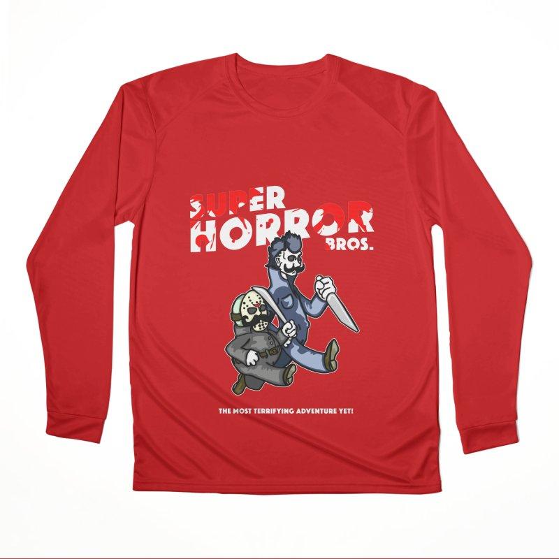 Super Horror Bros Men's Performance Longsleeve T-Shirt by Norman Wilkerson Designs