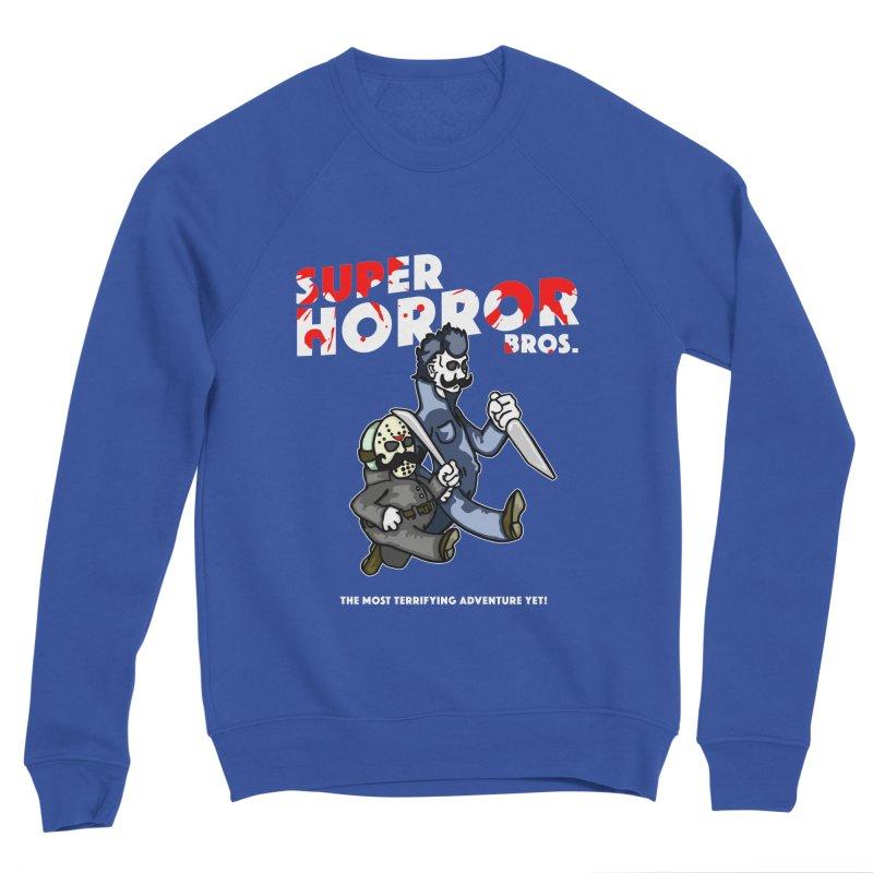 Super Horror Bros Men's Sponge Fleece Sweatshirt by Norman Wilkerson Designs