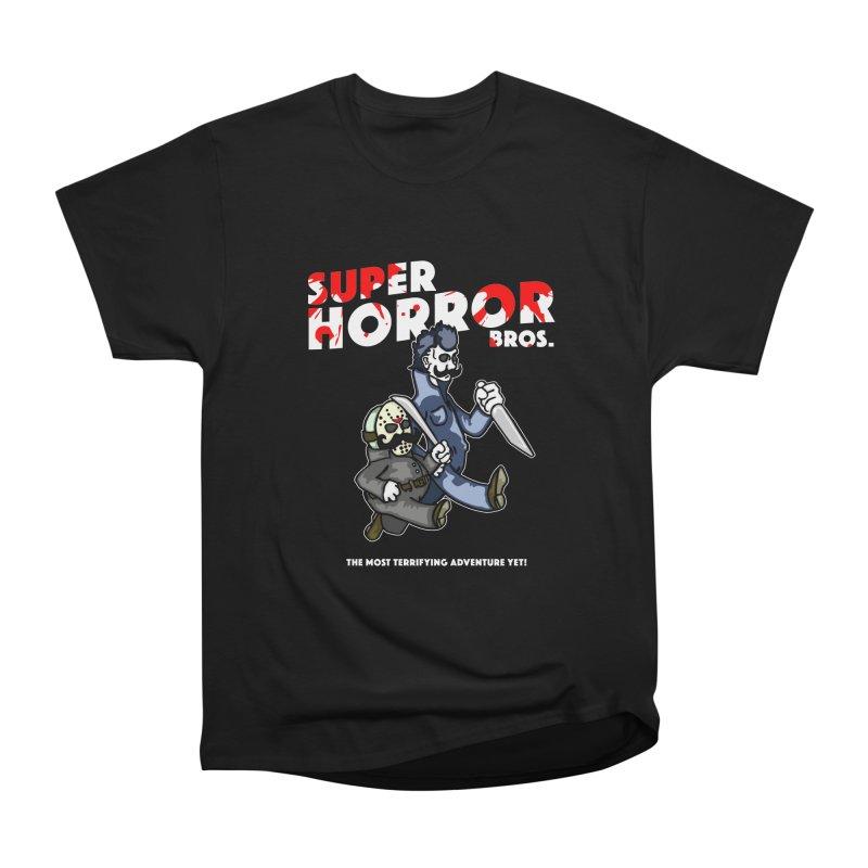 Super Horror Bros Men's Heavyweight T-Shirt by Norman Wilkerson Designs