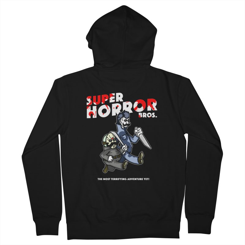Super Horror Bros Women's French Terry Zip-Up Hoody by Norman Wilkerson Designs