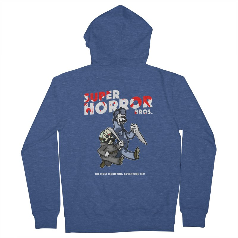 Super Horror Bros Men's French Terry Zip-Up Hoody by Norman Wilkerson Designs
