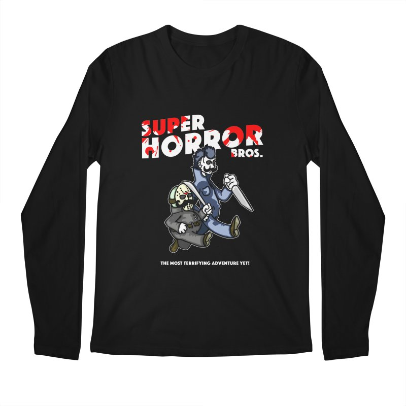 Super Horror Bros Men's Regular Longsleeve T-Shirt by Norman Wilkerson Designs