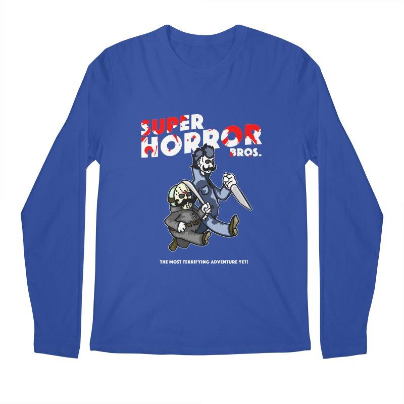 Super Horror Bros Men's Regular Longsleeve T-Shirt by Norman Wilkerson Designs