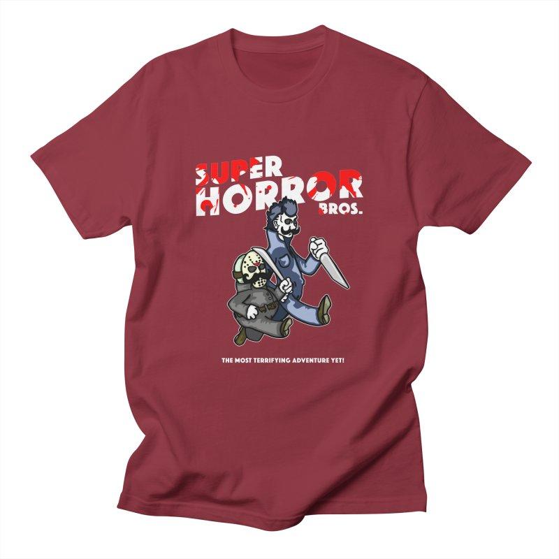 Super Horror Bros Men's Regular T-Shirt by Norman Wilkerson Designs