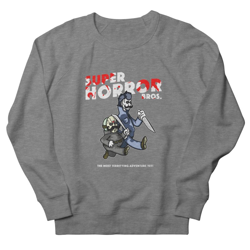 Super Horror Bros Women's French Terry Sweatshirt by Norman Wilkerson Designs