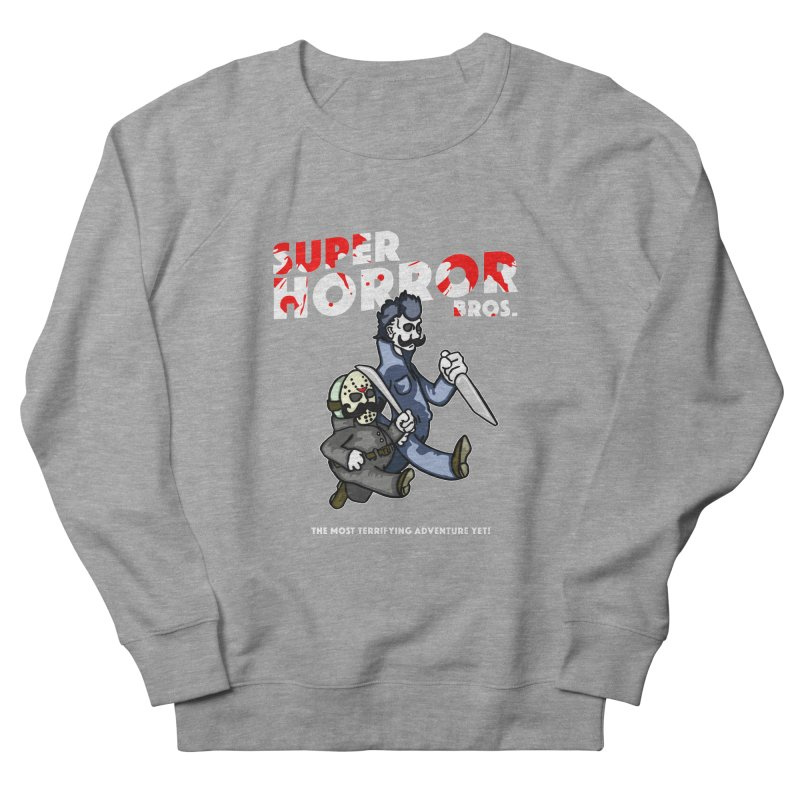 Super Horror Bros Men's French Terry Sweatshirt by Norman Wilkerson Designs
