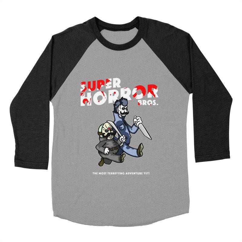 Super Horror Bros Women's Baseball Triblend Longsleeve T-Shirt by Norman Wilkerson Designs