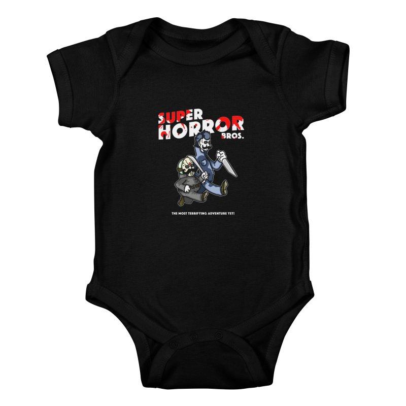 Super Horror Bros Kids Baby Bodysuit by Norman Wilkerson Designs