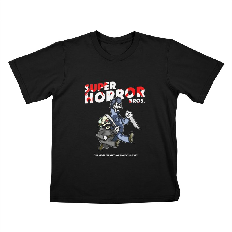Super Horror Bros Kids T-Shirt by Norman Wilkerson Designs