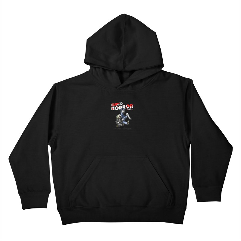Super Horror Bros Kids Pullover Hoody by Norman Wilkerson Designs
