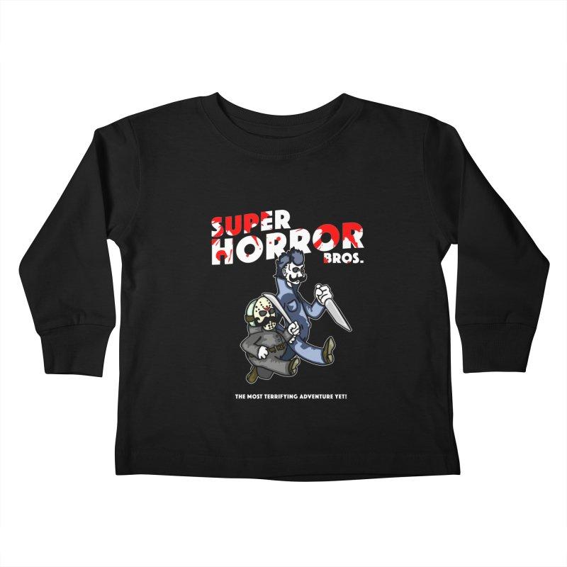Super Horror Bros Kids Toddler Longsleeve T-Shirt by Norman Wilkerson Designs