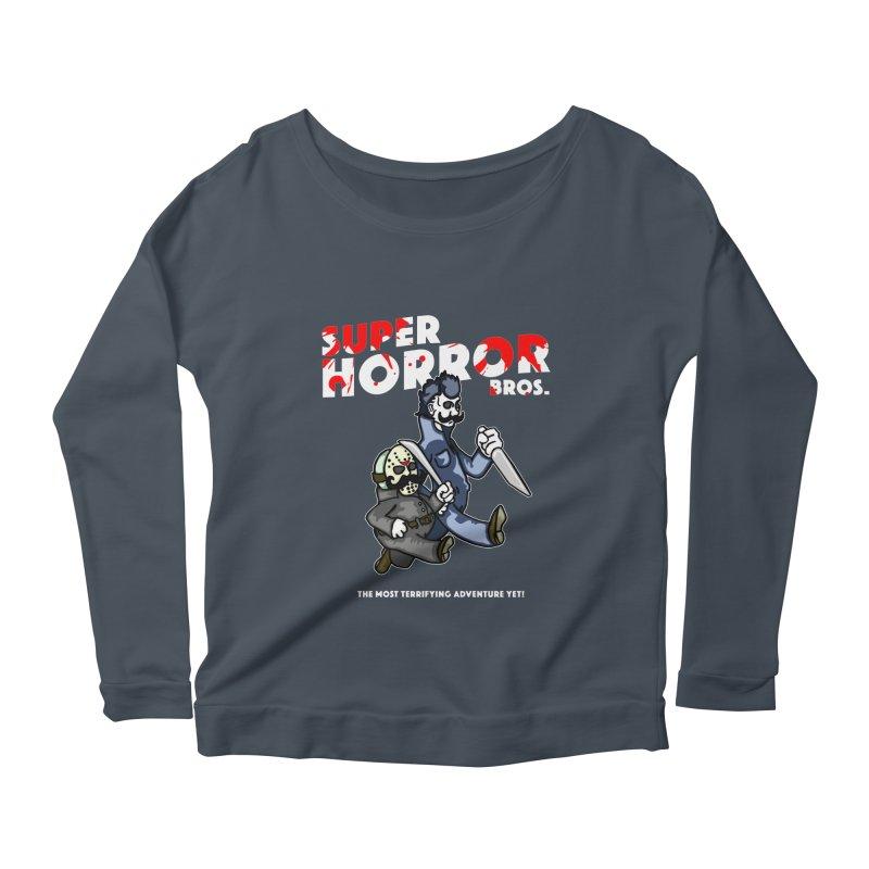 Super Horror Bros Women's Scoop Neck Longsleeve T-Shirt by Norman Wilkerson Designs