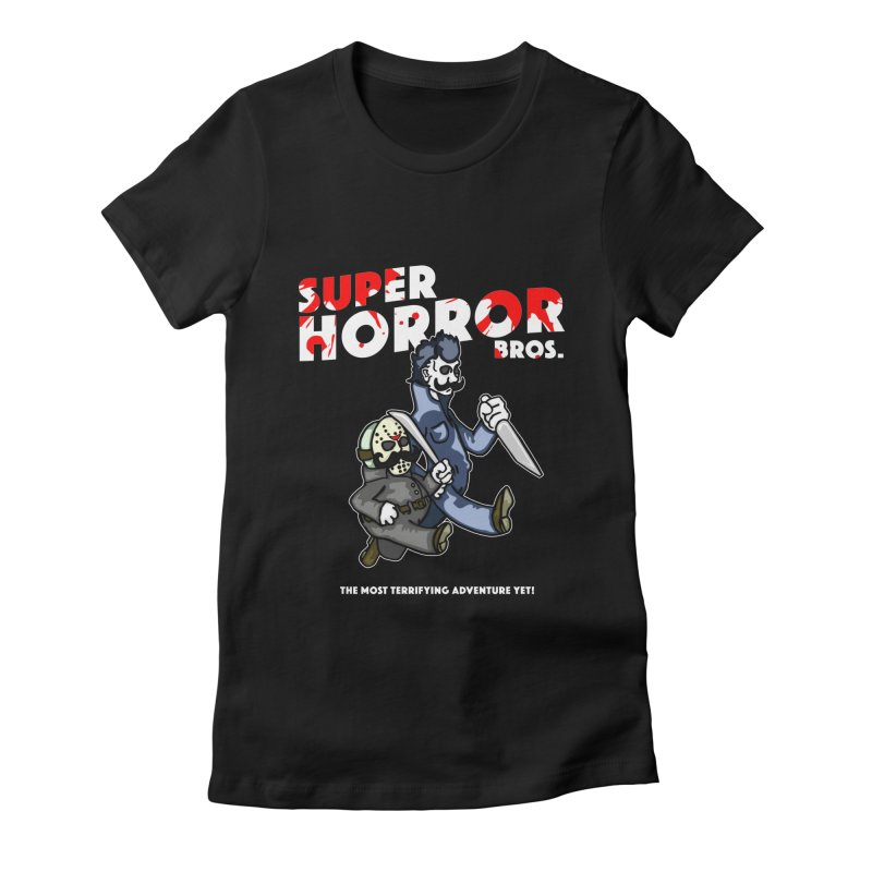 Super Horror Bros Women's Fitted T-Shirt by Norman Wilkerson Designs