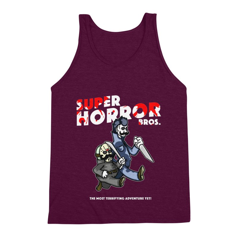 Super Horror Bros Men's Triblend Tank by Norman Wilkerson Designs