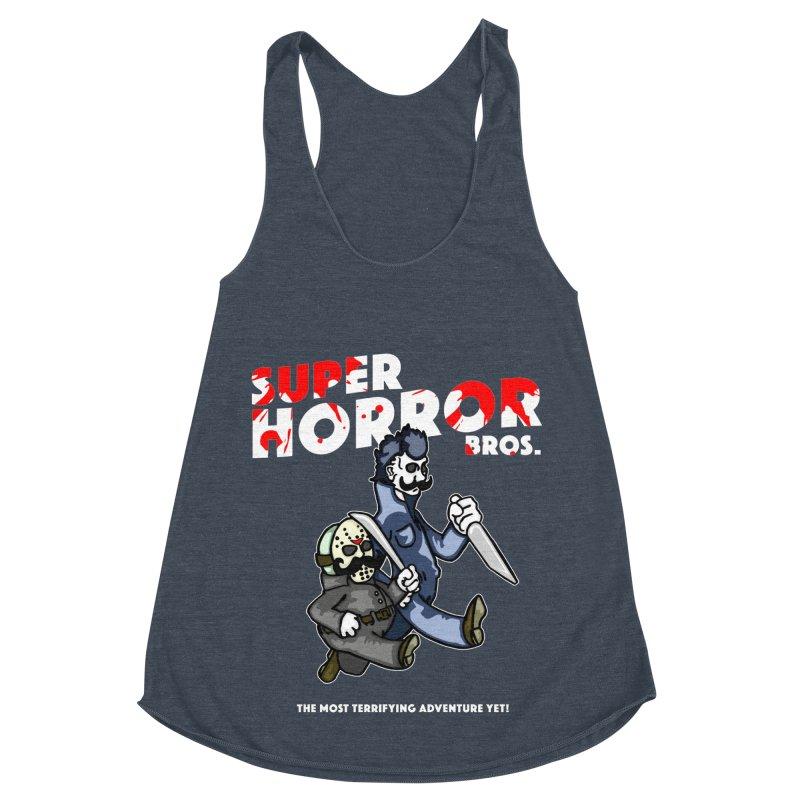 Super Horror Bros Women's Racerback Triblend Tank by Norman Wilkerson Designs
