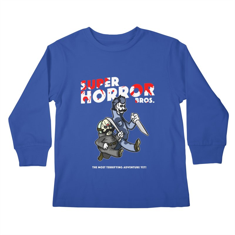 Super Horror Bros Kids Longsleeve T-Shirt by Norman Wilkerson Designs