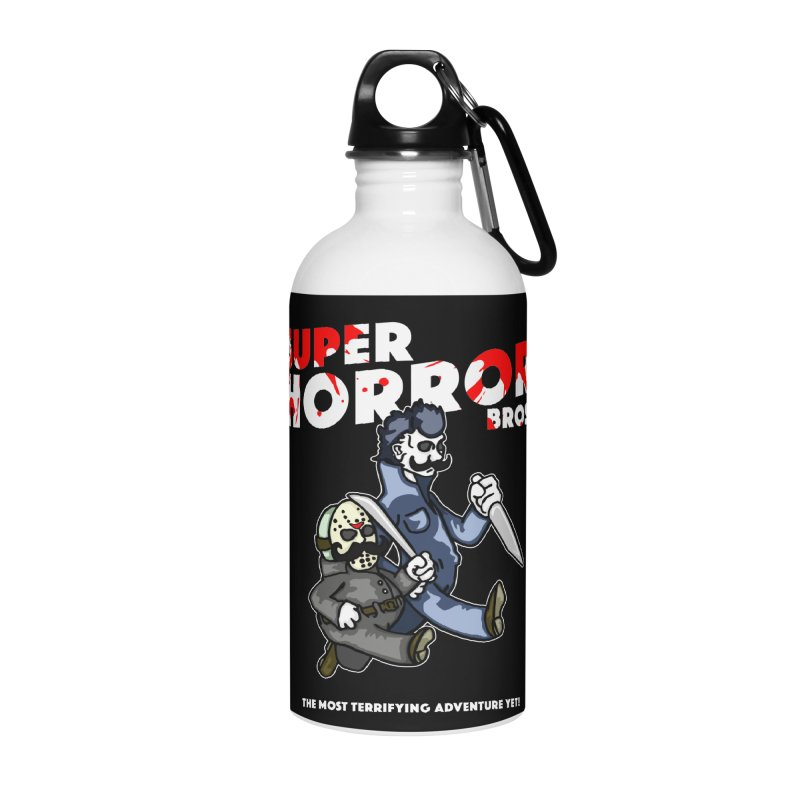 Super Horror Bros Accessories Water Bottle by Norman Wilkerson Designs