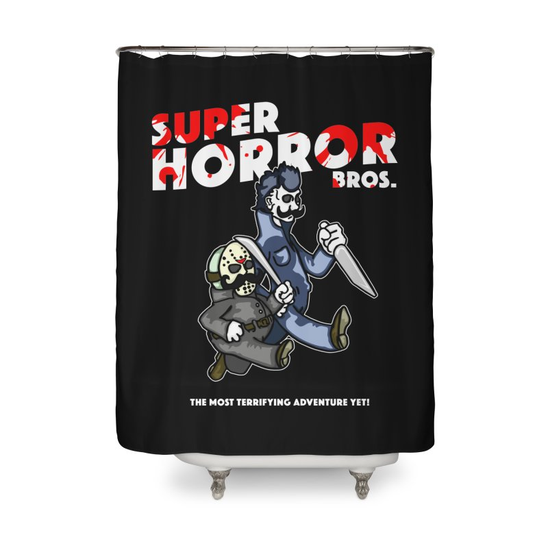 Super Horror Bros Home Shower Curtain by Norman Wilkerson Designs