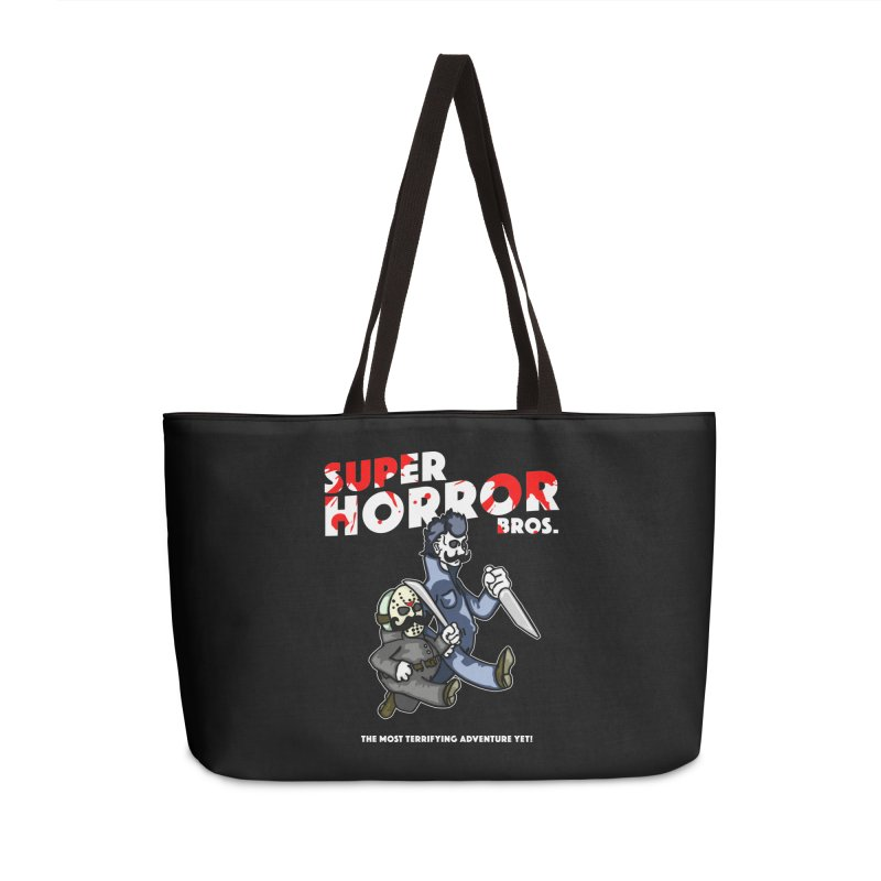 Super Horror Bros Accessories Weekender Bag Bag by Norman Wilkerson Designs