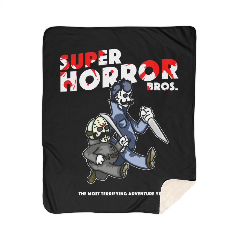 Super Horror Bros Home Sherpa Blanket Blanket by Norman Wilkerson Designs