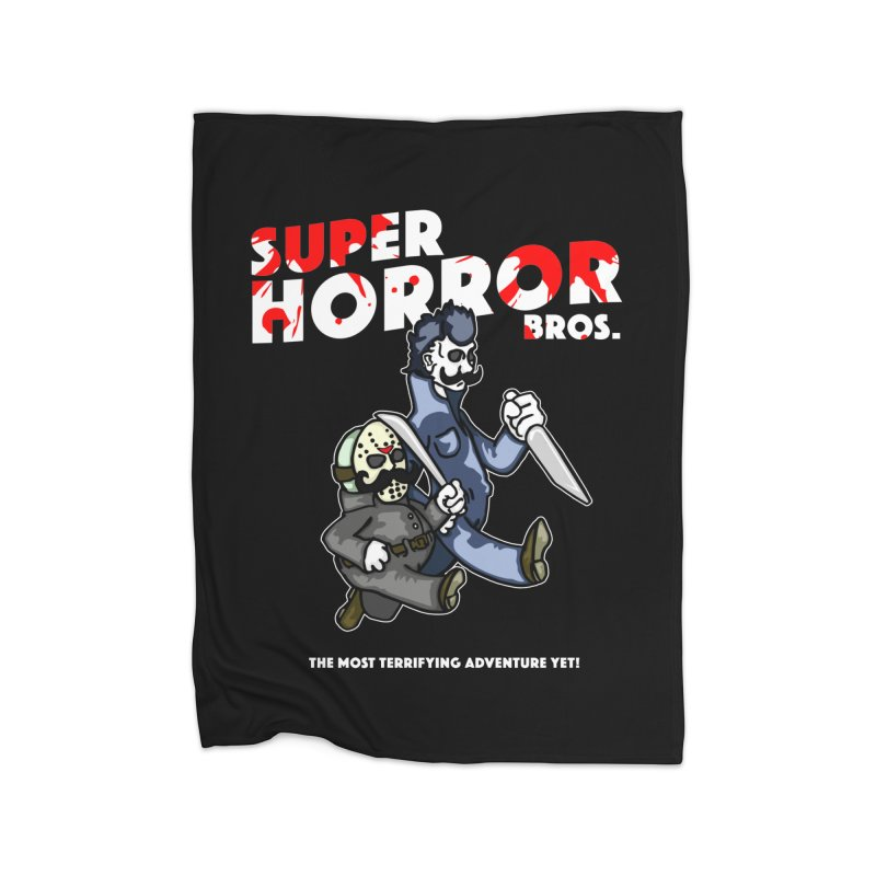 Super Horror Bros Home Blanket by Norman Wilkerson Designs