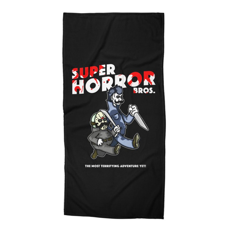 Super Horror Bros Accessories Beach Towel by Norman Wilkerson Designs