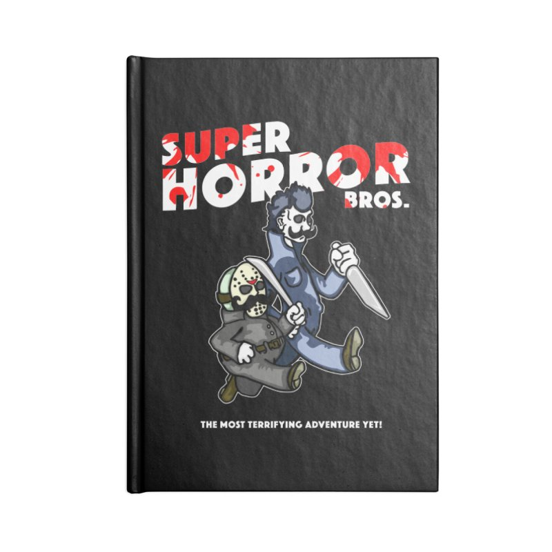 Super Horror Bros Accessories Lined Journal Notebook by Norman Wilkerson Designs
