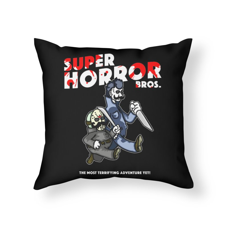 Super Horror Bros Home Throw Pillow by Norman Wilkerson Designs