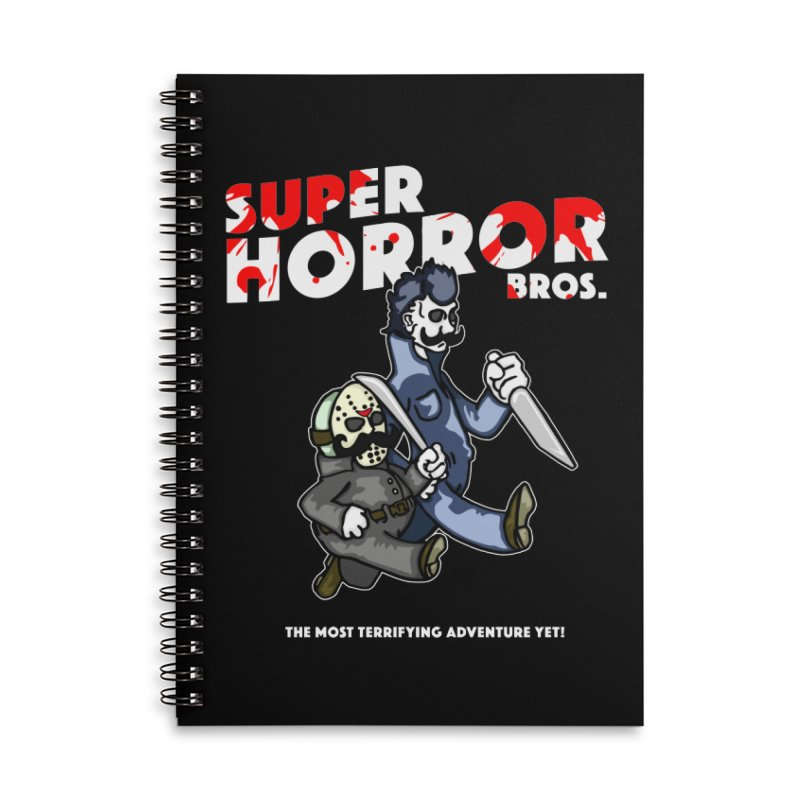 Super Horror Bros Accessories Lined Spiral Notebook by Norman Wilkerson Designs