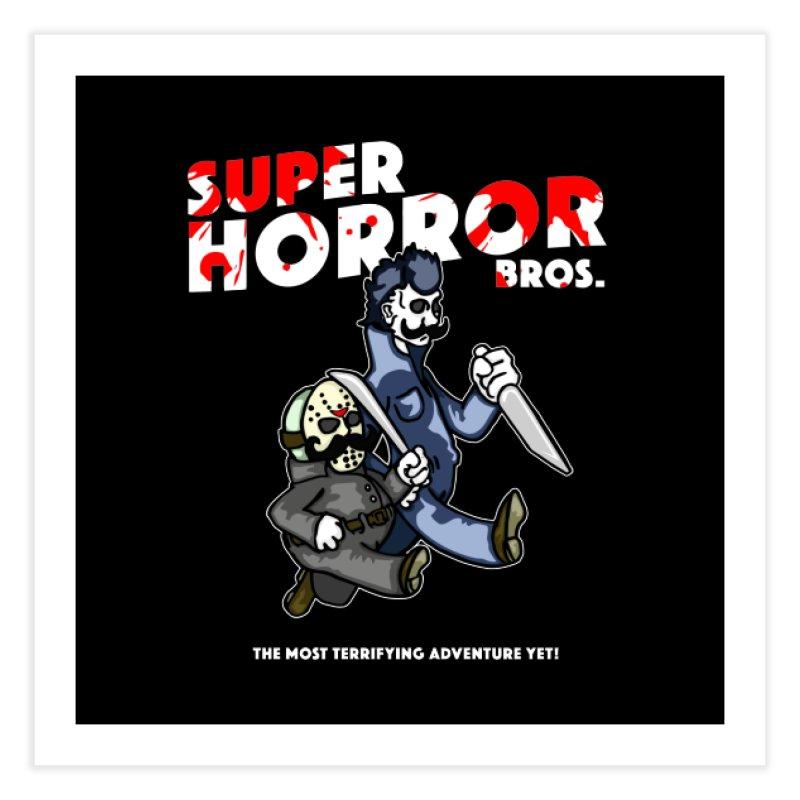 Super Horror Bros Home Fine Art Print by Norman Wilkerson Designs