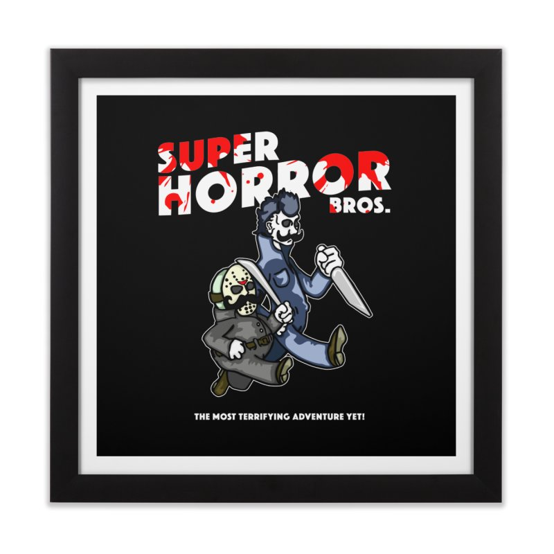 Super Horror Bros Home Framed Fine Art Print by Norman Wilkerson Designs