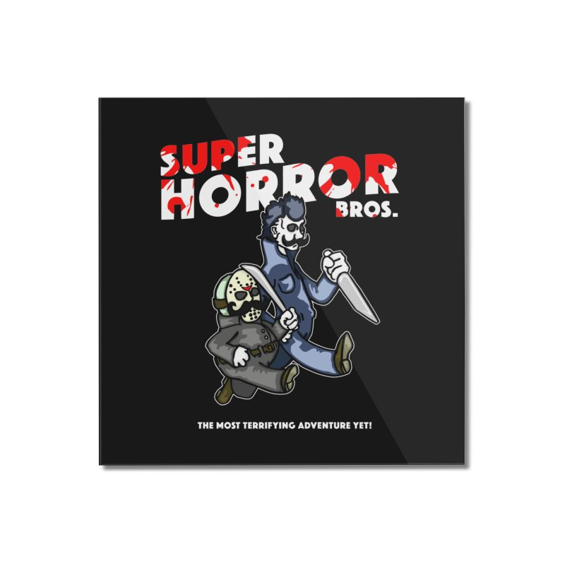 Super Horror Bros Home Mounted Acrylic Print by Norman Wilkerson Designs