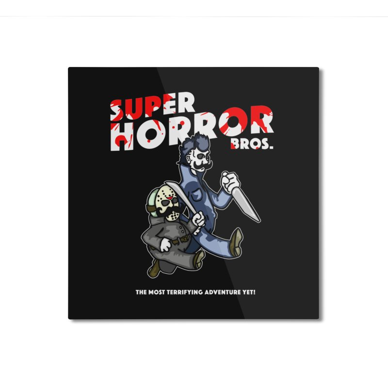 Super Horror Bros Home Mounted Aluminum Print by Norman Wilkerson Designs