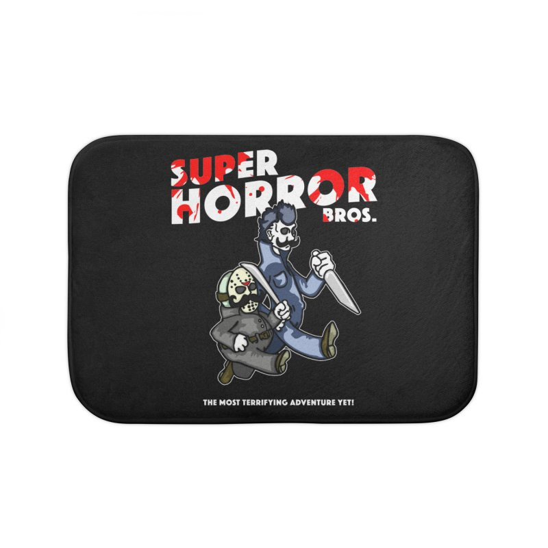 Super Horror Bros Home Bath Mat by Norman Wilkerson Designs