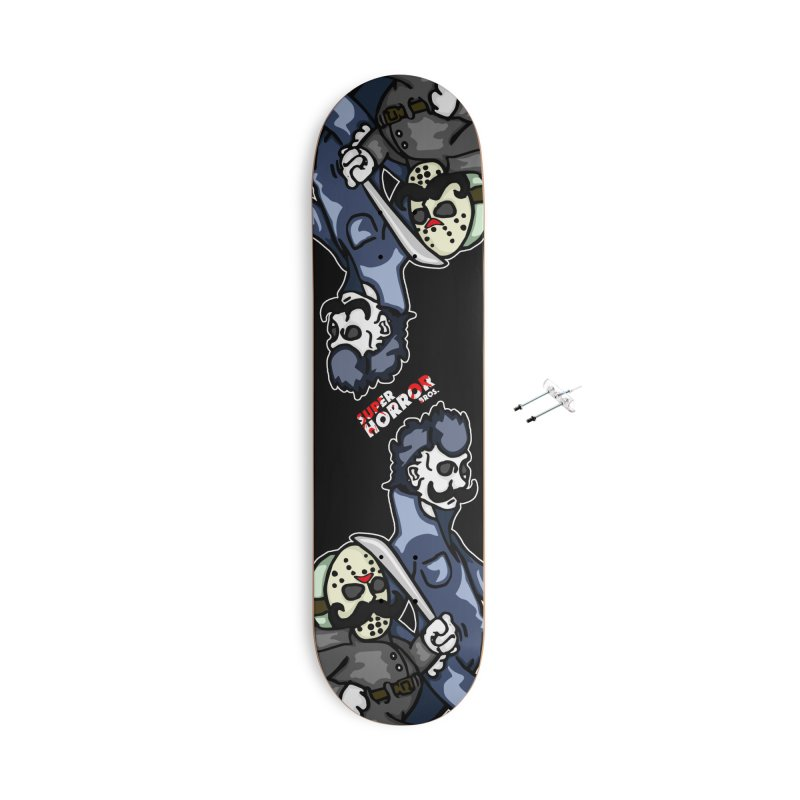 Super Horror Bros Accessories With Hanging Hardware Skateboard by Norman Wilkerson Designs