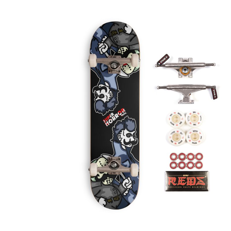 Super Horror Bros Accessories Skateboard by Norman Wilkerson Designs