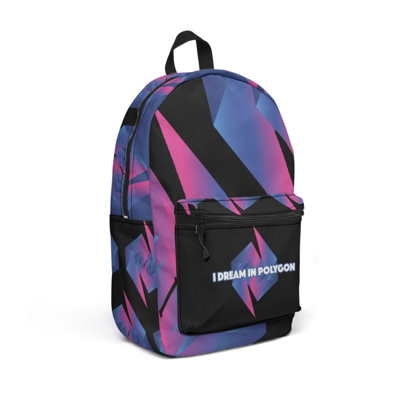 I Dream In Polygon Accessories Backpack Bag by Norman Wilkerson Designs