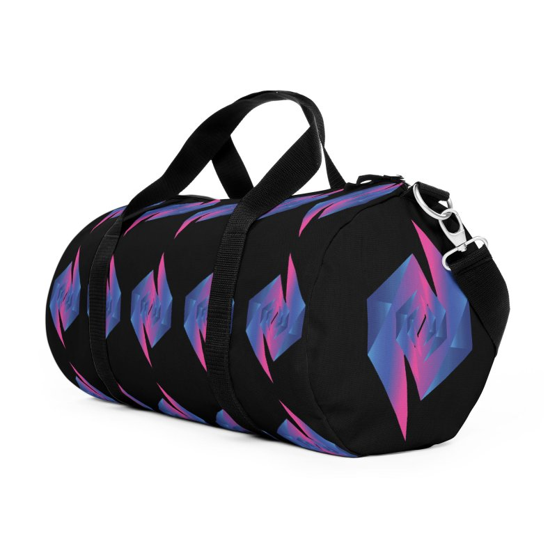 I Dream In Polygon Accessories Duffel Bag Bag by Norman Wilkerson Designs