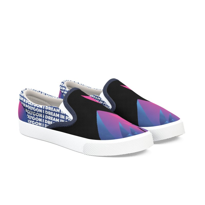 I Dream In Polygon Women's Slip-On Shoes by Norman Wilkerson Designs