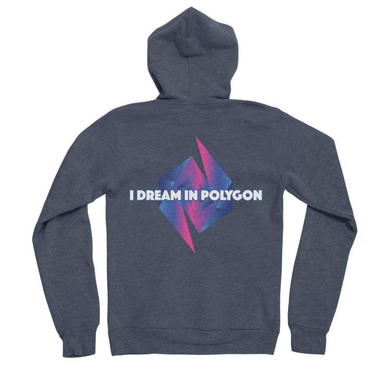 I Dream In Polygon Women's Sponge Fleece Zip-Up Hoody by Norman Wilkerson Designs